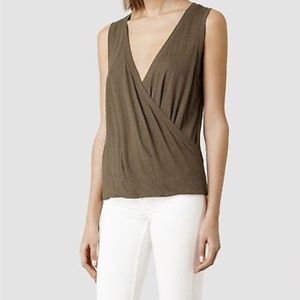 AllSaints Kerin vest top, brown, XS, worn once